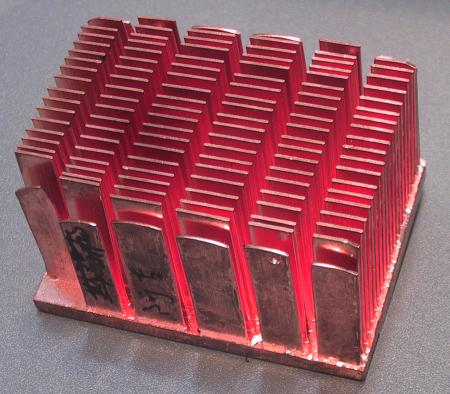 Taisol cold forged copper heatsink
